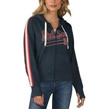 Details About Touch By Alyssa Milano Boston Red Sox Womens Navy Conference Full Zip Hoodie