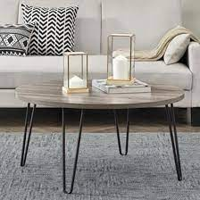 owen wooden round coffee table in