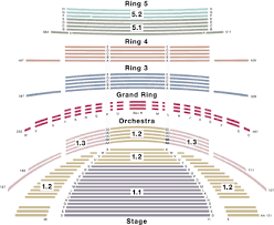 Four Seasons Centre Performing Arts Toronto Seating Chart 49 Actual Four Seasons Seating Chart Toronto