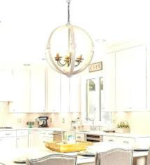 chandeliers white distressed chandelier orb wood antiqued cottage pendant shabb