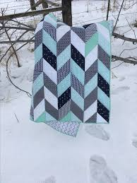 Best 25+ Baby boy quilts ideas on Pinterest | Baby quilts for boys ... & Navy mint and grey herringbone quilt baby boy nursery for Billy and Megan's  baby Adamdwight.com