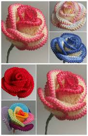 Crochet Free Patterns Simple Crochet Rose Wire Petaled Rose Free Pattern