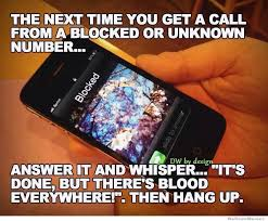 Next Time You Get A Call From A Blocked Number Do This… | WeKnowMemes via Relatably.com