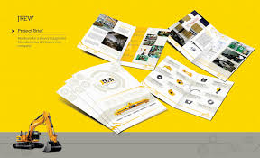 new beautiful corporate brochure design ideas examples corporate consturction brochure design example