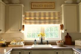 Kitchen Shades Kitchen Kitchen Window Decorating Idea With Brown Roman Shades Of