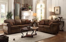 Microfiber Living Room Furniture Sets Homelegance 2pcs Corvallis Brown Bomber Jacket Microfiber Sofa Set