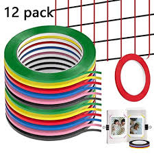3mm Tape Onemoret Graphic Chart Tape Art Tape Grid Whiteboard Grid Gridding Marking Tape Self Adhesive Non Magnetic 12 Rolls 3mm X 50m 6