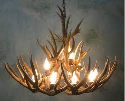 magnificent faux deer antler chandelier 22 white uk fake