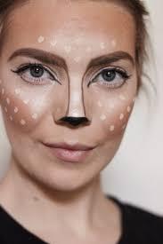 easy diy deer makeup via laurenkelp