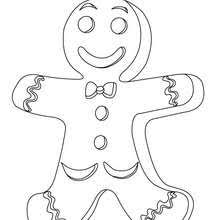 Small Picture Gingerbread men biscuits coloring pages Hellokidscom