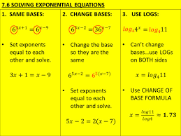 3 7 6 solving exponential equations