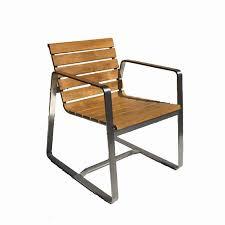 teak steel outdoor dining chair