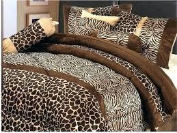 gallery of com 7 piee full size safari comforter set zebra giraffe astonishing leopard print bedding full various 19