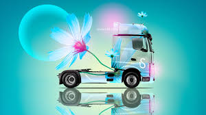 mercedes benz actros iv fantasy flowers