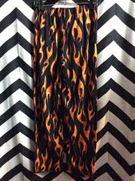 Flame Pattern Adorable FLAME PATTERN Beach PANTS Boardwalk Vintage