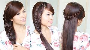 Really Long Hair Hairstyles 3 Cute Easy Summer Hairstyles For Medium To Long Hair Youtube
