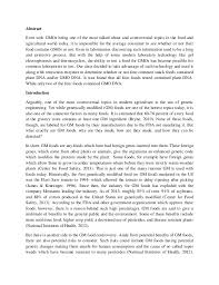 gmo lab report gmo lab report by zach obrecht 2