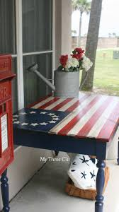 Small Picture Hand Painted Ol Glory Table Refurbished by My Three Cs American
