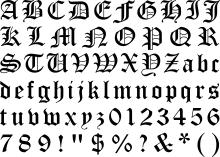 black letter font blackletter wikipedia