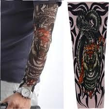 новый тату рукав панк мода нейлон эластичный временные татуировки искусства