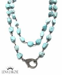 the woods fine jewelry jagged turquoise chain