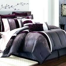 purple duvet cover sets king size bedding plum comforter set queen intended check deep