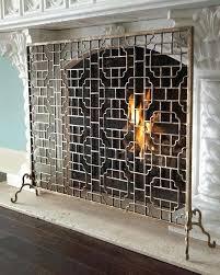 ornate fireplace screens astonishing single panel black ornate fireplace screen at decorative wrought iron fireplace doors