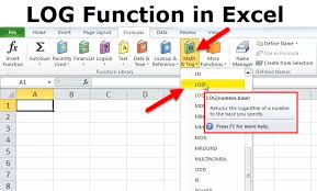 log excel function