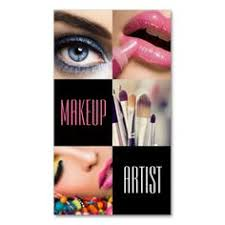 lip eyes brushes makeup artist cosmetology salon business card