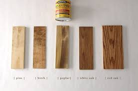 Bruce Wood Filler Color Chart How Six Different Stains Look On Five Popular Types Of Wood