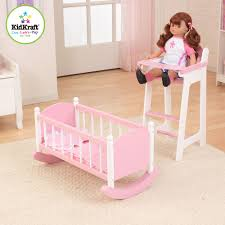 dolls furniture set. Kidkraft Darling Doll High Chair And Cradle Furniture Set In Pink FREE SHIPPING Dolls