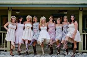 Bridal Party Fashion Of 2014  Youngstown Wedding Photography Country Western Style Bridesmaid Dresses
