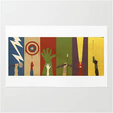 marvel avengers assemble characters area rug