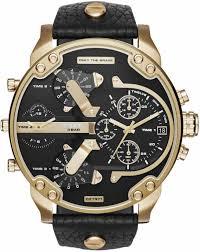 men s diesel mr daddy 2 0 oversized 4 time zone watch dz7371