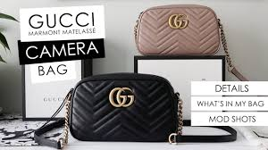 Updated 2018 Gucci Marmont Camera Bag Small Size Details Whats In My Bag Mod Shots