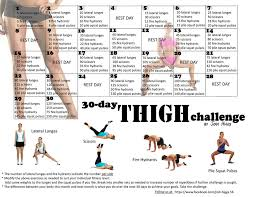30 Day Leg Challenge Chart Workout Thigh Challenge 30 Days Pipers Run
