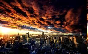 City Sunset Desktop Wallpaper