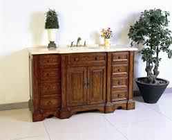 dora soo collection 58 sink chest bathroom vanities no faucet medium brown