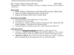 Sap Fico Sample Resume Sap Fico Resume Download Awesome Sap Basis Administration Sample