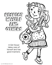 daisy petal coloring page the law respect myself and others coloring page girl scout daisy daisy petal coloring pages