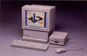 apple 2gs. the apple iigs computer, shown here with applecolor rgb monitor and 5.25-inch drive, features 256k of ram, high-resolution graphics, 2gs o