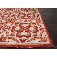picture of jaipur catalina moroccan pattern polyester red orange indoor outdoor rug cat13