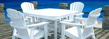plastic patio furniture. Plastic Outdoor Dining Set Table Modern Furniture Style Recycled . Patio A