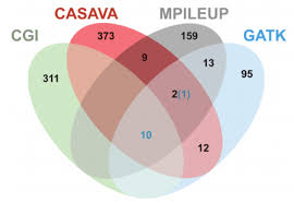 Gliffy Venn Diagram Four Property Venn Diagram Of Candidate Somatic Variants Within