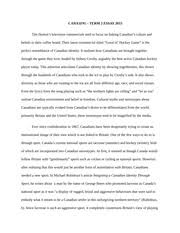 cdns canadian culture essay to many canadians hockey is the 5 pages essay winter 2015