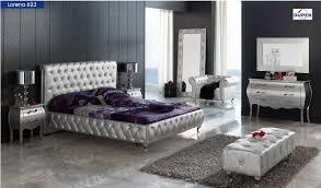 Platform Bedroom Furniture Esf Furniture 623 Lorena Queen Platform Bed In Silver