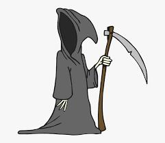 grim reaper cartoon drawing clipart
