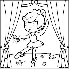 Ballerina Coloring Sheet Ballet Colouring Pages Free Ballerina