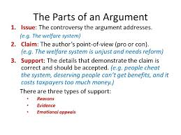ch reading and writing argument essays ppt the parts of an argument