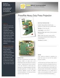 Resistance Welding Transformer Design Heavy Duty Press Projection Welder Brochure Manualzz Com